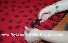 My Creative Way: How to make a Knotted Fleece Blanket