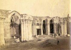 Uncompleted crypt of the Sagrada Familia 1885 Antonio Gaudi, Wanderlust Travel, Historical Photos, Barcelona Cathedral, Taj Mahal, Castle, City, Building, Painting