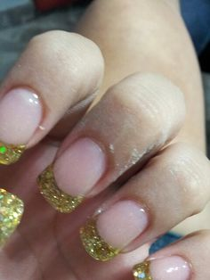 Gold and White Wedding. Manicure, Pedicure, Nails. Gold Nails prom nails?