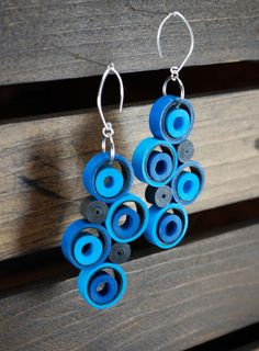 Modern Paper Earrings by RogueTheoryPULP. More at http://www.roguetheorypulp.etsy.com