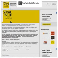 Produção de conteúdo e gerenciamento de rede social   Cliente: Viral Taste Digital Marketing