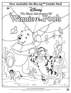 Have your family color in their own Winnie the Pooh art (of course, you are welcome to color as well if you'd like)!