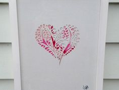 Oerfect for the bedroom - Beautiful Heart Silhouette | Felt