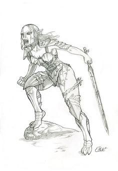 Tolkien's Female Orc by phantom61485