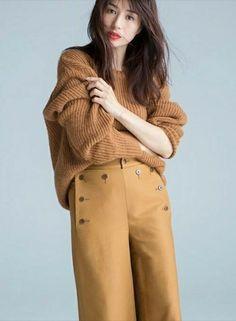 Pin by Rui Endo on 井川 遥 - Haruka Igawa Knit Fashion, Fashion Pants, Womens Fashion, Fashion Fashion, Asian Woman, Asian Girl, Japanese Hairstyle, Beautiful People, Beautiful Women