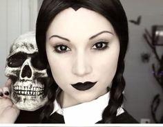 maquillage déguisement femme original halloween idée coiffure