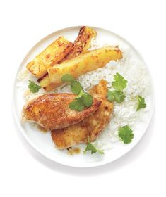 Jerk Chicken With Seared Pineapple recipe from realsimple.com #myplate #protein