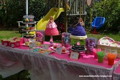 My two daughters Barbie Birthday Party. We had desserts, doll cakes, candy buffet and tons of fun!
