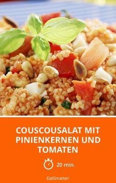 Couscousalat mit Pinienkernen und Tomaten - smarter - Zeit: 20 Min. | eatsmarter.de