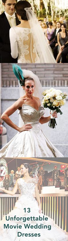 13 Unforgettable Wedding Dresses from Films - Everyone loves a good wedding - and of course, a perfect wedding dress. These movies hit the mark perfectly!