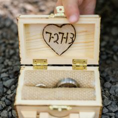 Could hand make this :D Rustic wood ring box Wedding Ring Box, Our Wedding, Dream Wedding, Wedding Stuff, Wood Laser Ideas, Wooden Ring Box, Rings For Girls, Wood Rings, Wedding Website