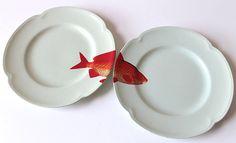 Goldie plates by yvonneellen on Etsy
