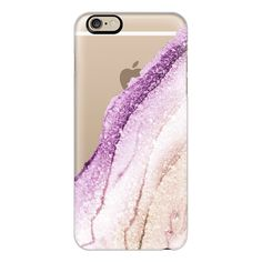 iPhone 6 Plus/6/5/5s/5c Case - FLAWLESS ROSE QUARTZ  by Monika Strigel ($40) ❤ liked on Polyvore featuring accessories, tech accessories, iphone case, iphone cover case, slim iphone case and apple iphone cases