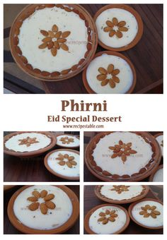 Phirni: Eid Special Dessert Eid Recipes, Holiday Recipes, Eid Food, Eid Special, Decorative Plates, Desserts, Tailgate Desserts, Deserts, Dessert