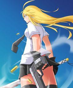 Gun, Blade, n Girl by KirigayaART.deviantart.com on @DeviantArt