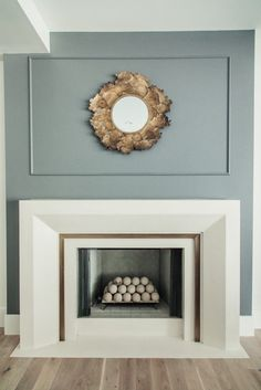 A Stunning Salt Lake City Home Tour: #classicmodernremodel Classic fireplace concept