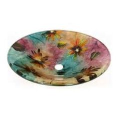 Legion Furniture - Multi Colored Round Glass Vessel Sink 184 - This ...