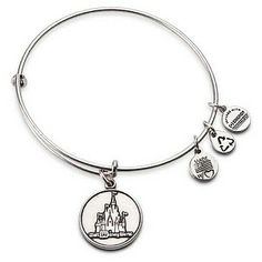I want this! Disney Alex and Ani Charm Bracelet - Disney World Castle - Silver