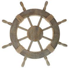 "Nautical Decor 24"" Wood Pirate's Ship Wheel Marine Decor Woodland Imports http://www.amazon.com/dp/B001EUEPM4/ref=cm_sw_r_pi_dp_-WYeub1KSD15Z"