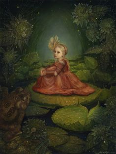 Once Upon A Blog... Thumbelina in the Marsh (from the Thumbelina Collection) by Annie Stegg