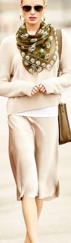 Vince Satin Skirt | Spring Fashion