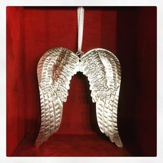 And her Angel wings let her fly... in our Boutique... #christmasdecorations #angelwings #christmastime #vintageboutique #lovinglymade #sussex
