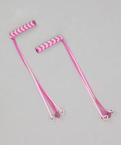 Picki Nicki Hair Bowtique Pink Heart Braid Clips