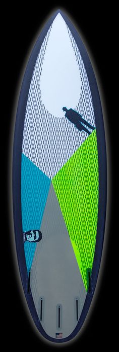 Monsta | Carbon Footprint Titanium II tri lemon/lime, grey, aqua – Proctor Surfboard Shop