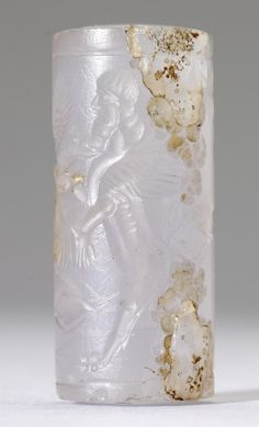 Cylinder Seal with Genius and Human-Headed Lions  Mesopotamian (Artist)