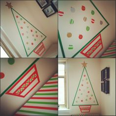 christmas DIYS | DIY: Washi Tape Christmas Tree Good if you don't have a lot of space!