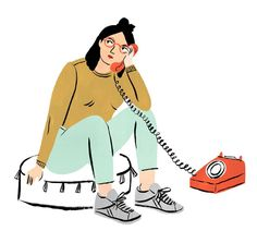 """2,862 Likes, 7 Comments - Bodil Jane (@bodiljane) on Instagram: """"Hello? ☎️Another one from a series of illustrations for 'Ask Alice', a communal advice column…"""""""
