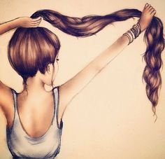 Hair drawing #drawing #GirlyDrawings
