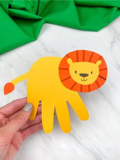 Looking for a fun and easy preschool craft for kids to make? This handprint lion craft is perfect. It comes with a free printable template too! Download the template and make it at home or at school. #simpleeverydaymom #preschoolcrafts #preschool #preschoolers #kidscrafts #papercrafts #handprintcrafts Easy Preschool Crafts, Toddler Crafts, Kids Crafts, Pre K Activities, Animal Activities, Animal Crafts For Kids, Crafts For Kids To Make, Art Crafts, Arts And Crafts