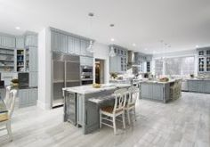Westchester County plays host to this iconic gray and white kitchen using CliqStudios Cambridge cabinets in Harbor gray.