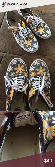 Daisy Vans A few spots on the inside of shoes but nothing major!  Super cute Vans!  Boho hippie vibe! Vans Shoes Athletic Shoes