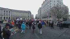 360°: Protesters boo outside Donald Drumpf's hotel