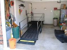 Wood ramp in garage ramps and access products for Handicap accessible mobile homes for sale