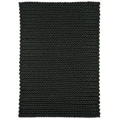 Debenhams Dark Grey Wool Helix Rug