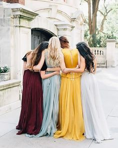 When your bridesmaids perfectly compliment one another Dresses  leannemarshallofficial fall collection Photography stephaniesunderlandphotographybridesmaid girlgang bridesmaidgoals bridesmaiddress bridesmaids bridesmaiddresses maid maids maidofhonor maidofhonour teambridesmaid bridetobe  bridetobe wedding wedding weddinginspo weddingideas weddinginspiration bohobride bohowedding altbride altwedding