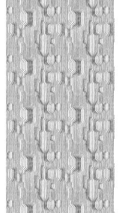 Marimekko Frekvenssi Wallpaper in White and Black by Harri Koskinen