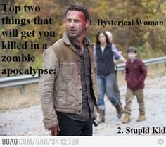 This may be true for other people, but not Rick.  He brought a knife to a gun fight and won.