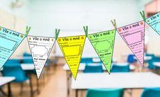 Vlaječky seznamovačky - jak se jmenuješ? Kdy máš narozeniny? Co máš rád/a? Čím budeš, až vyrosteš?Vy... School Projects, Montessori, Language, Classroom, Ideas, Psychology, Autism, Class Room, Language Arts