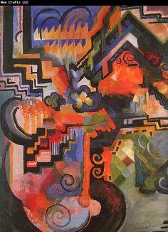 August Macke ~ Coloured Composition, 1912
