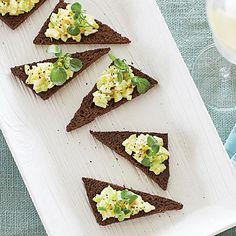 Curried Egg Salad Toasts Coastalliving.com