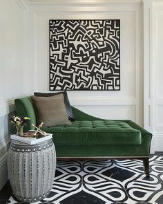 large living room ideas, comfortable corner with green sofa