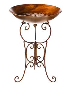 Look at this Ornate Birdbath & Stand on #zulily today!
