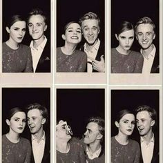 I love how Emma is doing all these cool poses, while Tom is just always smiling