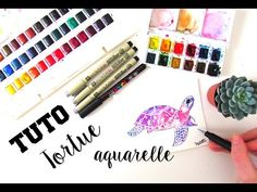 •| TUTO AQUARELLE - LA TORTUE |• - YouTube