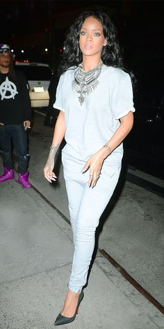 Rihanna makes a strong fashion statement // Statement Piece by DylanLex // #DylanLex #statement #necklace