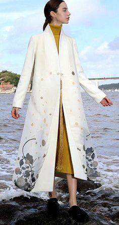 debdadb60b4 plus size Winter coat V neck side open women coats embroider long coats   Women